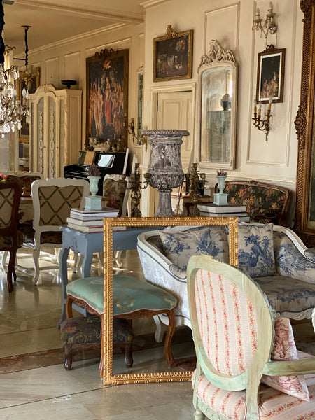 Neoclassical frame with mouldings antique classic furniture interiors decor