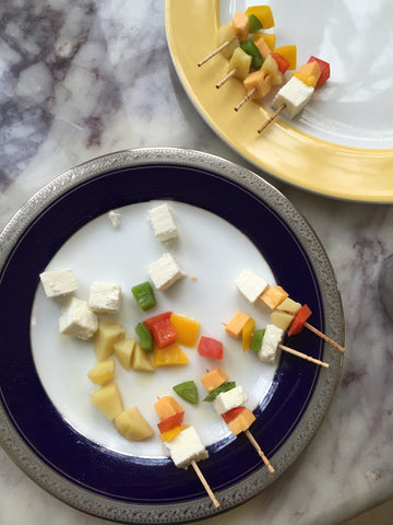 home made tofu, paneer skewers, healthy eating, toddler lunch