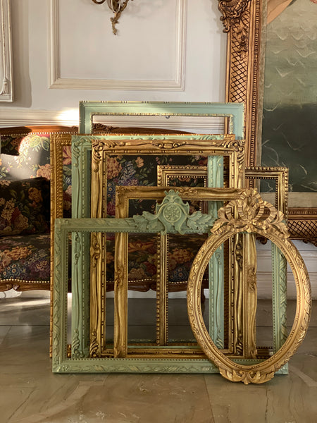 Neoclassical frame with mouldings antique classic furniture interiors decor Louis Xv French italian
