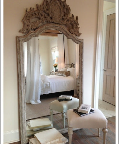 Classic rococo mirror. Oversized frame. Beautiful home interiors. Luxury homes
