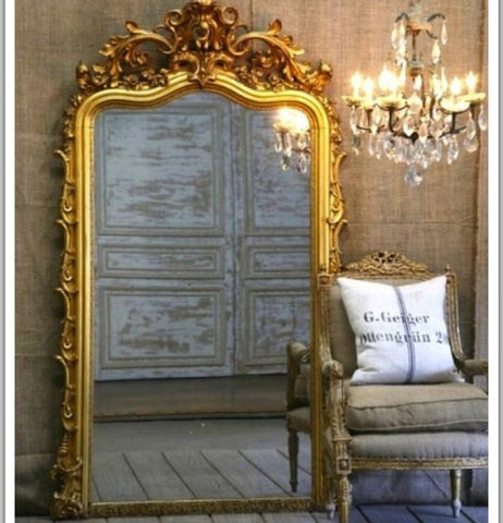 Golden classic mirror, opulent home decor India