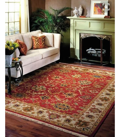 oriental carpet over sized. brilliant home decor. opulent room setting.
