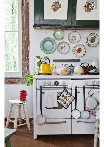 apartment kitchen decor ideas. country style.