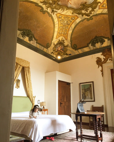 Frescoed renaissance suite with cute baby check in