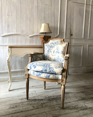Louis XVI square back desk chair
