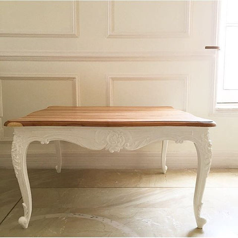 Center Table with rococo motifs and delicate Louis XV legs ...