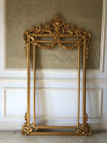 Frame of gilded opulence inspired by Louis XV