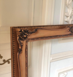 Louis XV frame in burnt ombre
