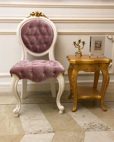 Louis XV dressing, dining or side chair with dramatic feet