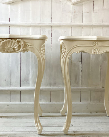 Fine side tables with deep rococo