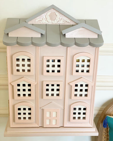 Townhouse wall shelf, doll house or display cabinet
