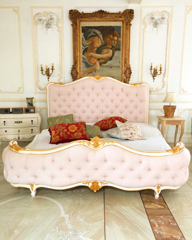 The Upholstered Louis XV pink Bed