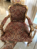 Pair of Elegant Louis XV fauteuil/ chair with intense cartouche