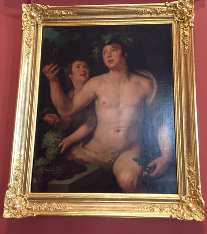 Frame inspired by painting of Bacchus from State Hermitage Museum