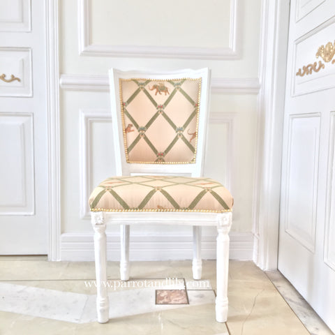 Chair inspired by Classic Louis XVI with square frame