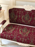 Settee / couch of Louis XV with foliage carving