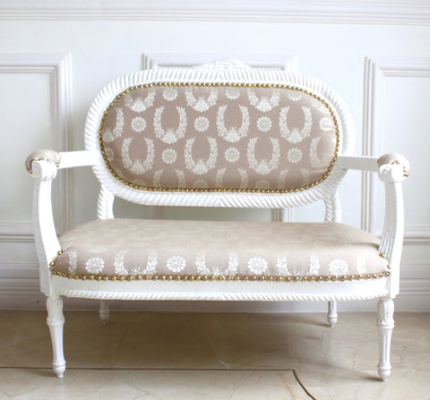 Beautiful & Delicate Louis XVI Petit Settee for Children