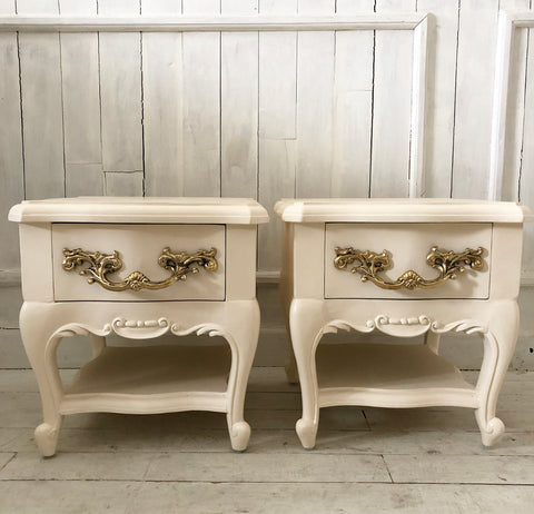 Nightstands with beautiful silhouette in Louis xv style