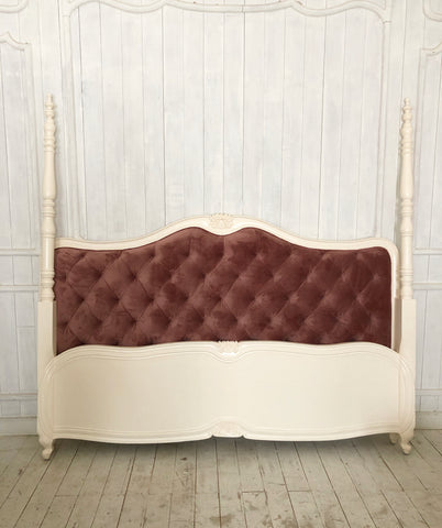 Louis XV delicate silhouette bed with two posters