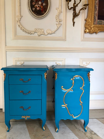 Nightstand / Side Tables of stunning elegance inspired by Louis XV