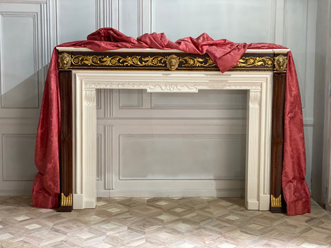 Fire place mantle surround of Louis XV era
