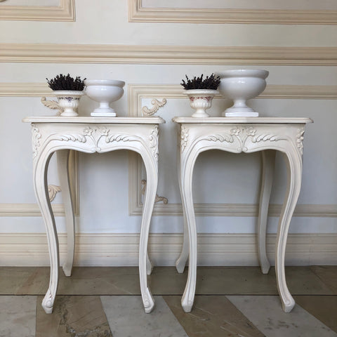 Side Tables / Stool with delicate Louis XV sensibilities