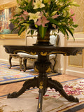 Center Table of Louis XV elegance with parquet top