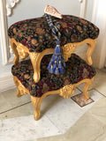 French Louis XV carved footstool