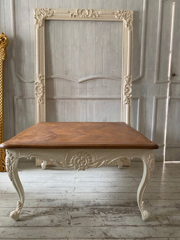 Louis XV Center table with reverse scrolls