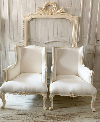 Surreal wing chair of Louis XV sensibilities
