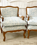French provincial Louis xv fauteuils