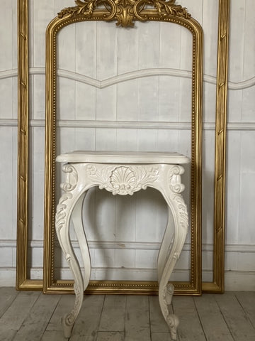 Louis XV side table with dramatic cockle