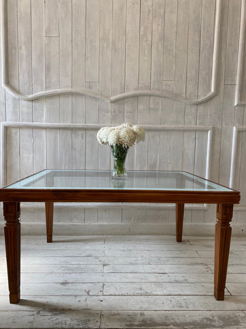 Louis XVI Center table in natural distress