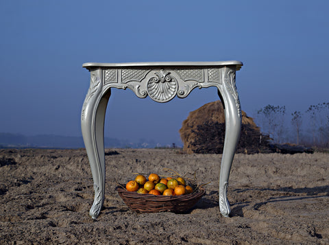 Console Table inspired by Louis XV rococo and doe legs