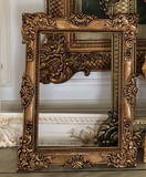 Frames of oversized proportions and rococo elements inspired by Louis XV