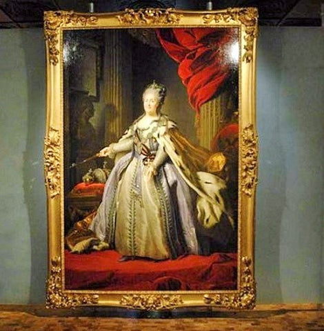 Frame inspired by portrait of Empress Cathrine the Great