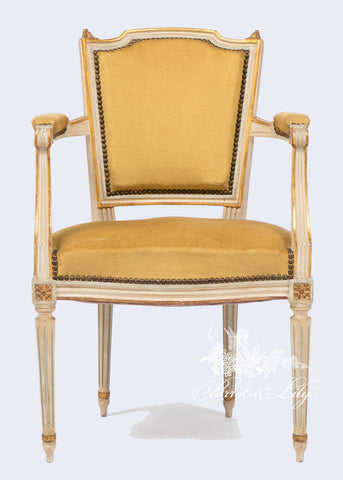 Chair inspired by Classic Louis XVI with square frame set of 4 or 6
