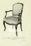 Chair iconised by Louis XV, armchair