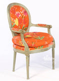 Chair inspired by Classic Louis XVI, Fauteuil to compliment Couches set of two
