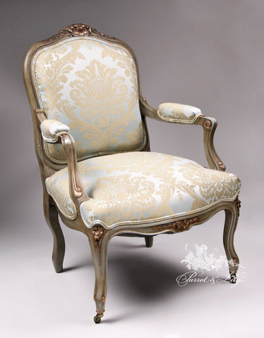 ... Chair Inspired By Louis XV, Fauteuil Of Lofty Comfort Set Of Two ...