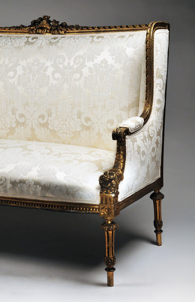 settee with canape silhouette inspired by louis xvi parrot lily. Black Bedroom Furniture Sets. Home Design Ideas