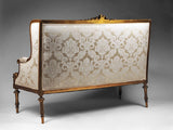 Settee with Canape silhouette inspired by Louis XVI