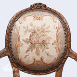 Chair inspired by classic Louis XVI, balloon frame