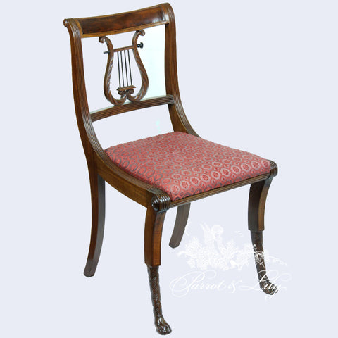 Chair inspired by Thomas Sheraton with Lyre Back
