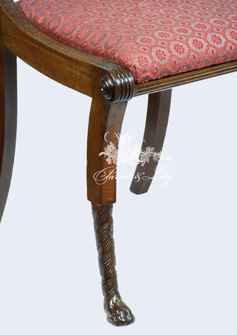 ... Chair Inspired By Thomas Sheraton With Lyre Back