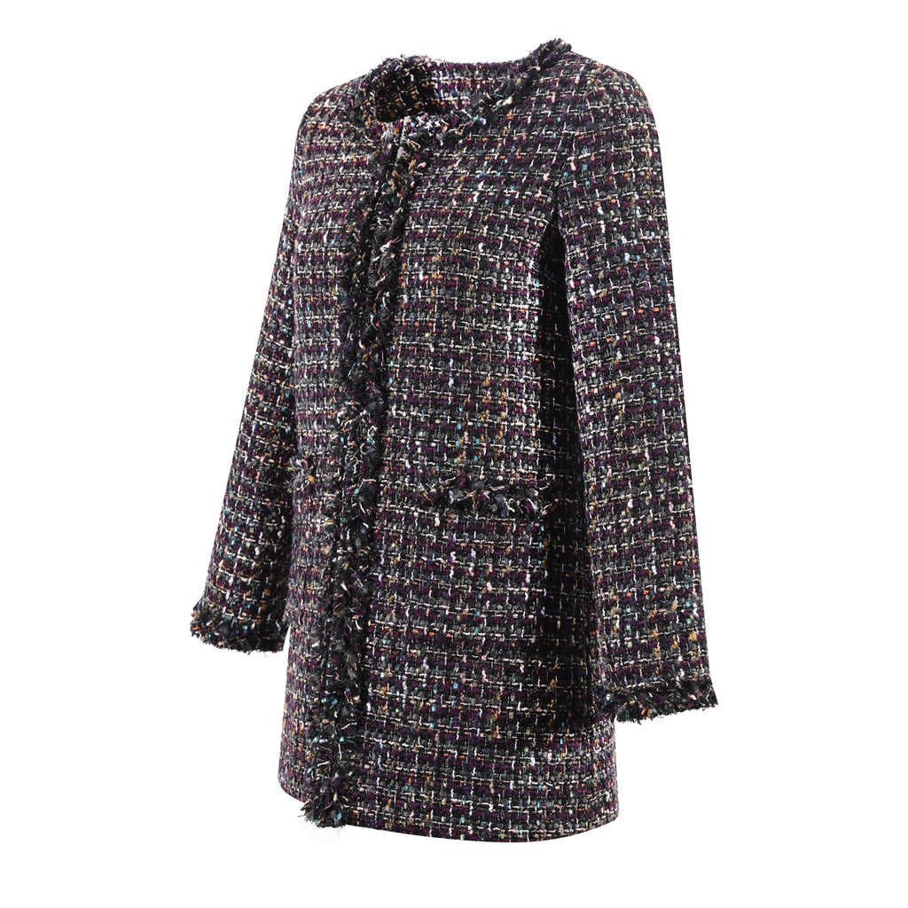 Deep Purple Tweed Jacket