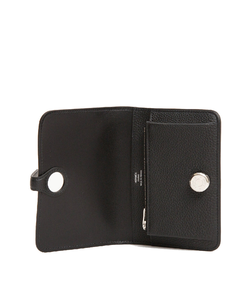 Dogon Compact Wallet Black Togo PHW