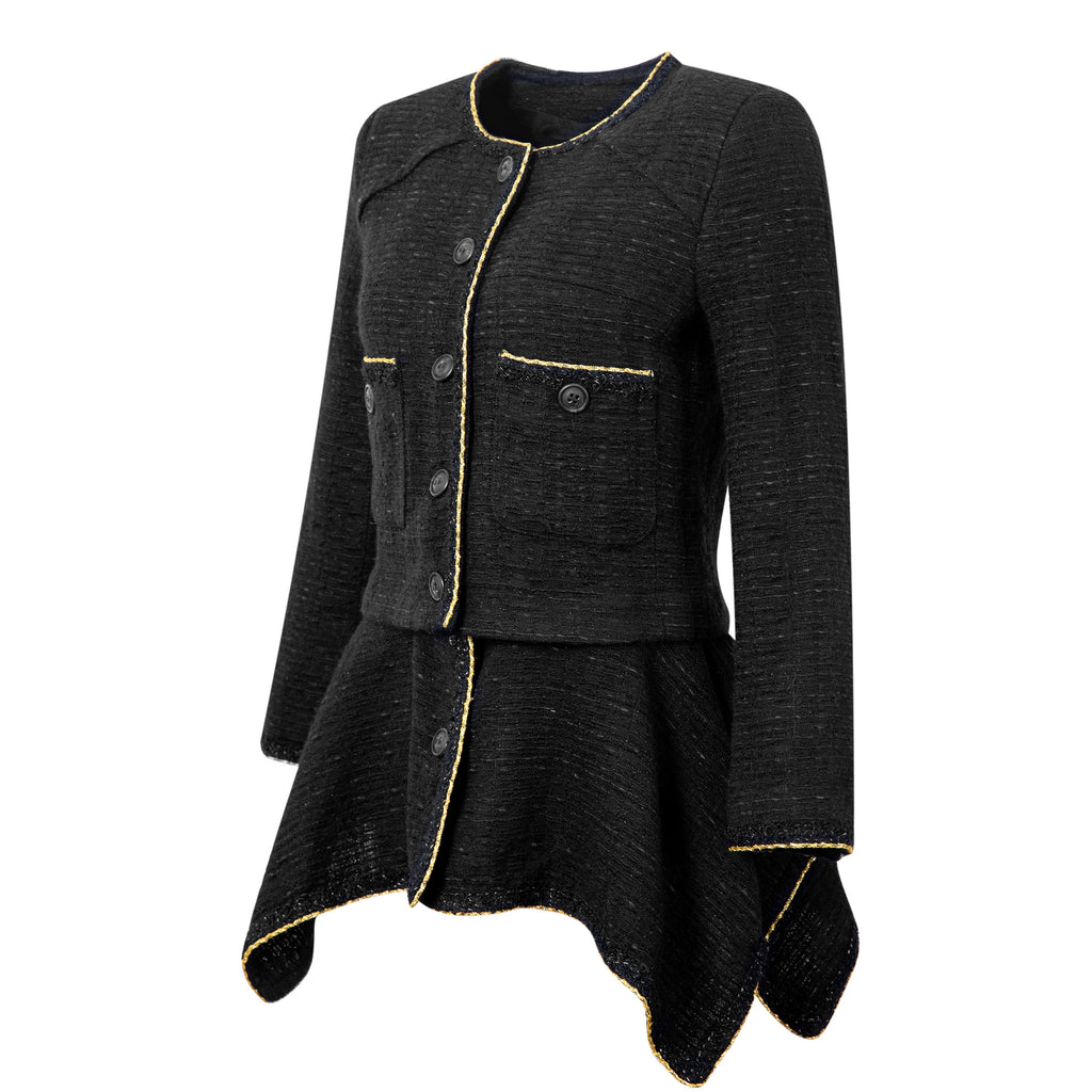 Gorgeous 2in1 Little Black Tweed Jacket