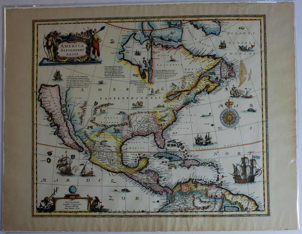 Map Of America In 1800.1800 Reproduction Of A 1629 Map Of