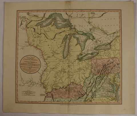 "1811 John Cary ""A New Map of part of the United States"""